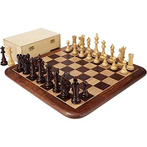 JNMDLAKO Juego de ajedrez de Palisandro y Caja de Almacenamiento - Inteligencia de ajedrez de Altura King de 6', Fiesta de Juego de Intercambio