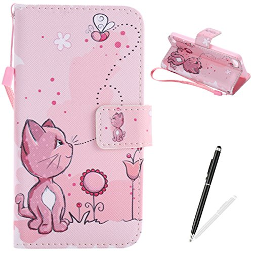 Feeltech iPod Touch 5-6 Case,PU Leather Wallet Cover for iPod Touch 5-6