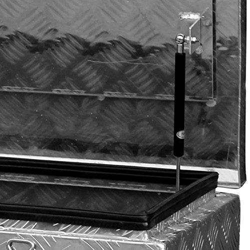 Alukiste Pick-Up Box Ladeflächenkiste Werkzeugkiste Alubox Deichselbox Staubox Anhängerkiste Gurtkiste - 4