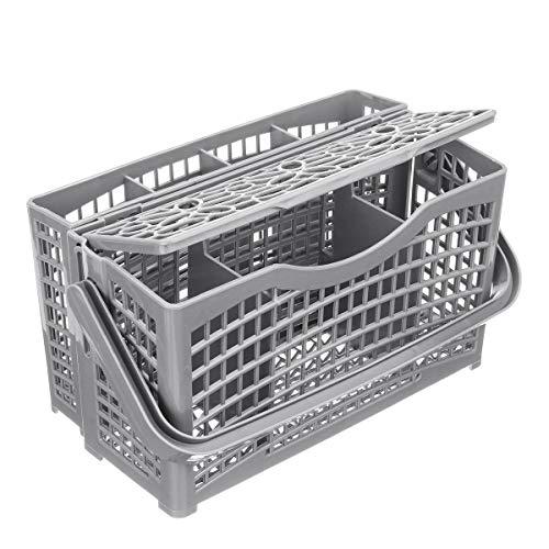 KASILU Nuevo 2 en 1 Cesta de Cubiertos de lavavajillas Universal for Maytag Whirpool LG Samsung Durable