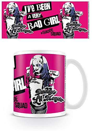 DC Comics Harley Quinn Suicide Squad Bad Girl Daddys Little Monster - Taza de café, diseño de película Harley Quinn