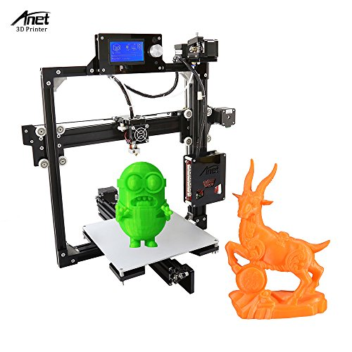 Anet A2 High Precision Desktop 3D Printer Kits DIY Self Assembly LCD Screen Aluminum Alloy Frame Reprap i3 with 8GB SD Card Printing Size 220*220*220mm Support ABS/PLA/HIP/PP/Wood Filament