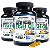 (Pack of 3) Natural Antarctic DPA Wild Caught Omega 3 Fish Oil DPA-EPA-DHA Supplement by Ecostream Naturals - 2,900 Milligrams Triple Strength Ultra Pure Concentrated Soft-Gels - No Fish Tasting Burps