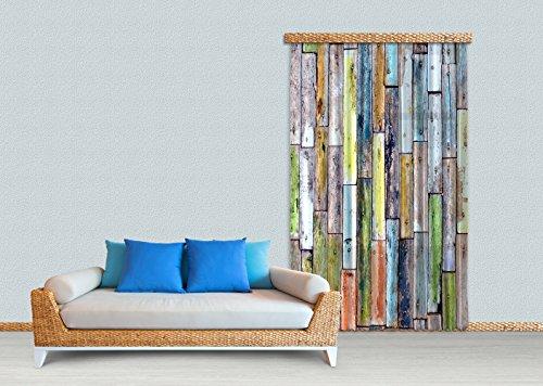 AG Design Hout, Gordijn, 140x245 cm, 1 Deel, FCPL 6508, Polyester Multi-Colour, 0.1 x 140 x 245 cm