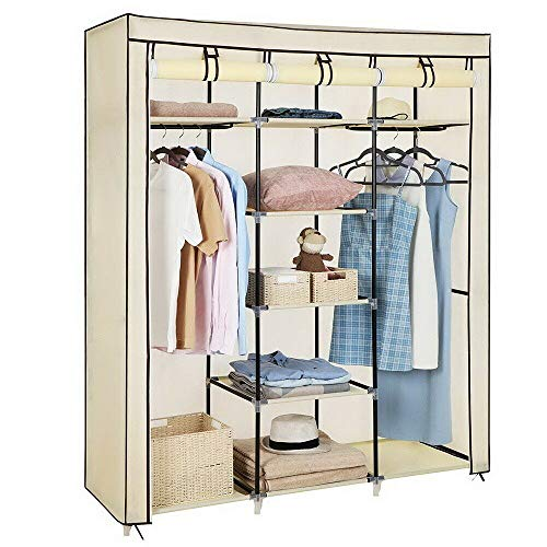Check Out This 69 Portable Closet Wardrobe Clothes Ample Storage Space Organizer Armoire Free