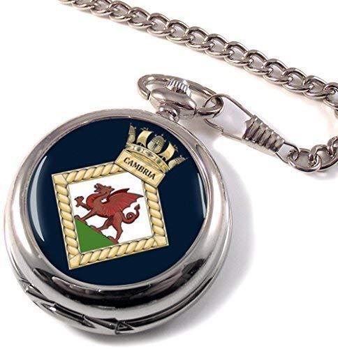 HMS Cambria Full Hunter reloj de bolsillo
