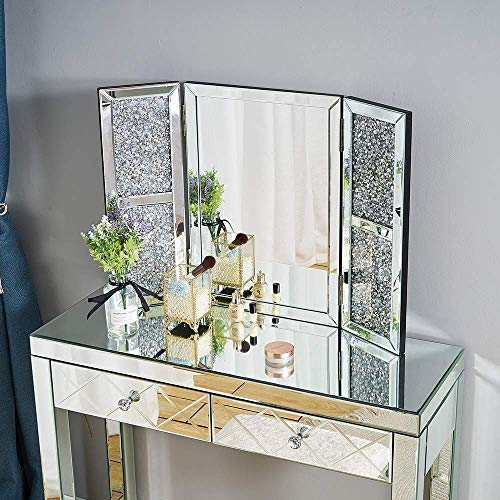 YIQIFEI Storeinuk Makeup Beauty Spiegel, Schlafzimmermöbel Tri Fold Schminktisch Spiegel für Schminktisch & Hellip;