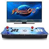 SeeKool Pandora's 9D Juegos clásicos Consola de Videojuegos, 2700 in 1 Multijugador Arcade Game Console, 4 Joystick Partes de la Fuente de alimentación HDMI y VGA y Salida USB