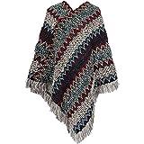Ms. chaud automne et hiver châle grande rue de la personnalité de la mode sauvage frangé foulards chevrons - Gris - 60/ 80 cm