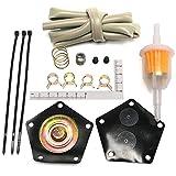 Kit di ricostruzione della pompa del carburante for Suzuki Quad Runner/King Quad 1987-1998 Riparazioni 15100-19b00 e 15100-19B01 Include diaframmi e molle Carburatori