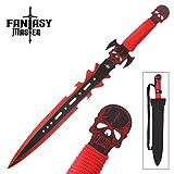 Fantasy Master FNMFM-681RD Blade, Short Sword with Sheath, Red, 27'/3mm