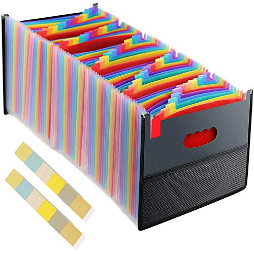 File Folders Letter Size, Expandable File Folder, File Organizer Expanding Folder, File Folders 60 Pockets, A4 Size Expandable File Box, Portable Document Organizer for Home/Business/Office