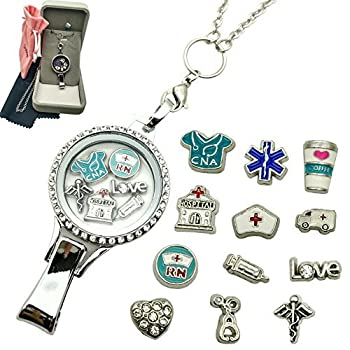 Dotiow Nurse Lanyard Badge ID Holder Clip for Nurse Jewelry