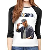 Cole Swindell Women's Slim-Fit 3/4 Sleeve T-Shirt Graphic Baseball Shirt M Black