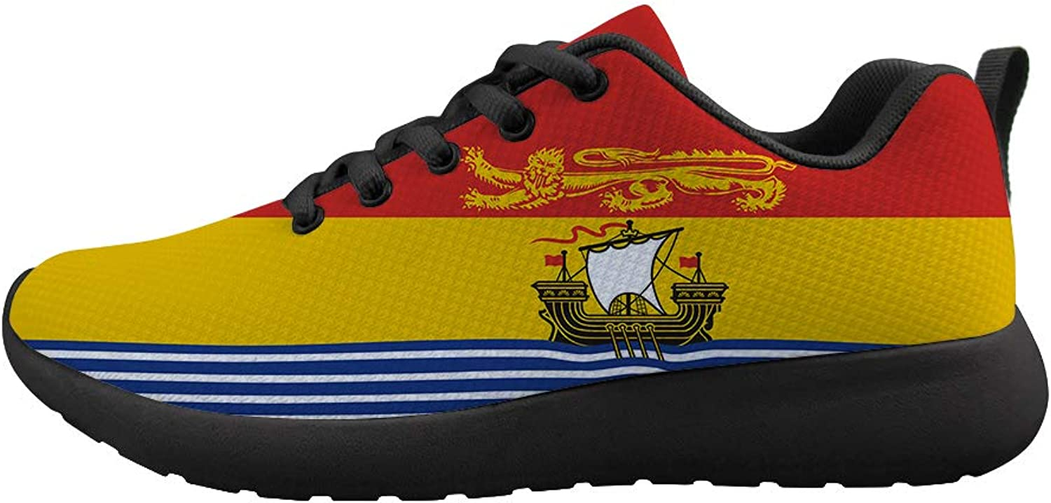 Owaheson Cushioning Sneaker Trail Running shoes Mens Womens New Brunswick Flag