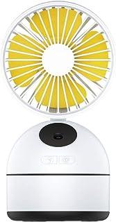 JMFHCD Ventilador USB Mini Silencioso Personal Portátil Rociar Ventilador 3 Velocidades Ajuste de 18 ° hacia Arriba y hacia Abajo Circulador de Aire para Oficina Hogar Viajar Humidificador,Blanco