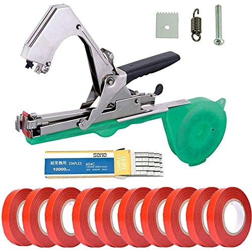 Plant Tying Machine, Gardening Tools Flower Tape Garden Tool Belt, Tapetool Tapener Machine, Gardening Gadgets Hand Garden Tools for Vegetable, Grape, Tomato, Cucumber (green)