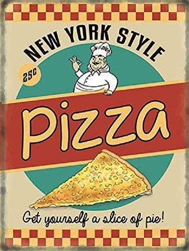 Nueva York Estilo Pizza 50's. Retro, antiguo publicidad sign
