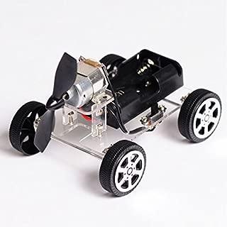 OriGlam 【Merry Christmas】 Mini Motor Smart Robot Car, Wind Car DIY Puzzle Robot Kit, Windmilling DIY Robot Smart Car