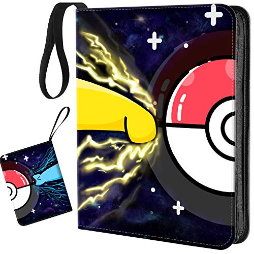 Carrying Case Binder,Trading Card Binder with Sleeves,400 Pockets Zipper Binder Card Holder Collectors Album Folder Carrying Case with 50 Premium 8-Pocket Sheets Fit for TCG Baseball Football Cards