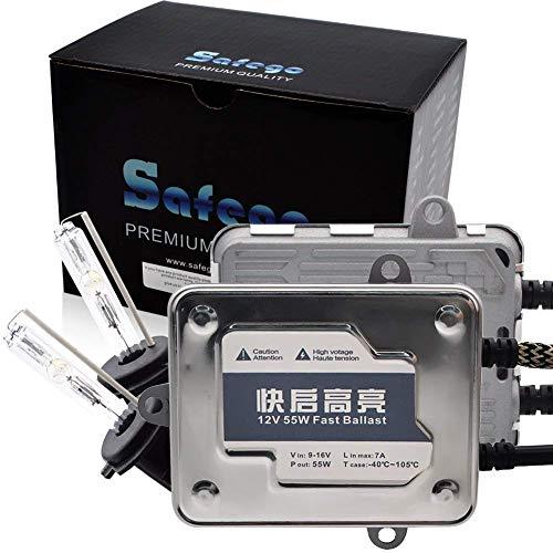 Safego AC H7 55W Xenón HID Kit Luz de Xenon Headlight Lámpara Kit de Conversión Con Quick Start Ballast Luces Auto Lamparas Coche Luz de Color 6000K Blanco NO CANBUS