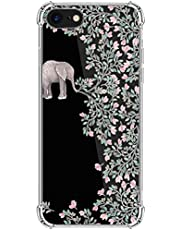 kinnter compatible con iPhone SE (2020) funda de silicona transparente ultra fina TPU Bumper antigolpes diseño original para iPhone SE (2020) funda Cover