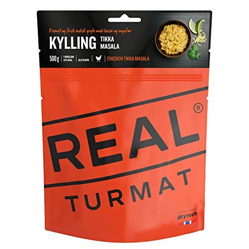 REAL FIELD MEAL 'Original Real/DRYtech Norwegian Estratégica Expedition Alimentos, 5117'POLLO Tikka Masala, 577Calorías/133g (500g montado) Not Catering