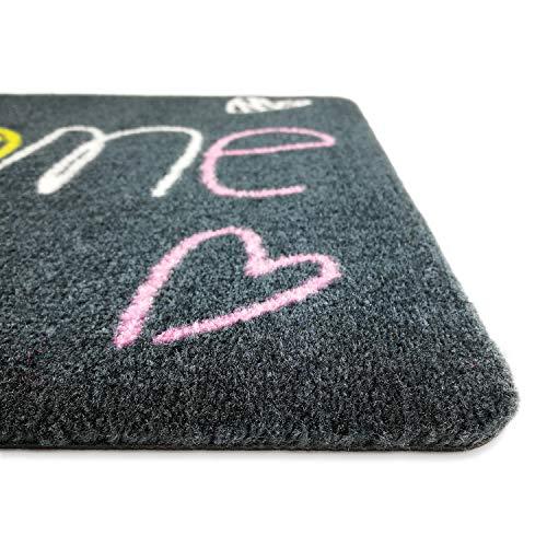 deco-mat Felpudos Exterior – felpudos Entrada casa, alfombras casa, Alfombrilla Moderna, Alfombrilla Antideslizante, felpudos Originales Bienvenido – 40x60 cm