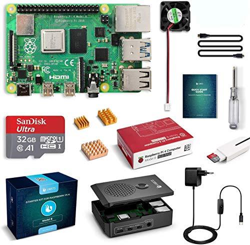 LABISTS Raspberry Pi 4 Model B Kit de 4 GB con SD de 32GB Clase 10, RPi Barebone...