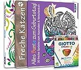 Mein Kreativ-Set: 3 liebevoll gestaltete Malbücher mit 24 hochwertigen Farbstiften: Mit...