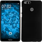 PhoneNatic Case kompatibel mit Huawei Honor 7X - Hülle schwarz gummiert Hard-case Cover
