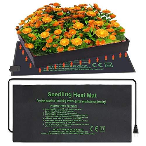 Zdcdy Almohadilla Calefactora para Plantas, Alfombrilla térmica para plántulas, Manta Termica para Plantas de Semillero para Ayuda a la Germinación de Plantas en Días Fríos,121x52CM