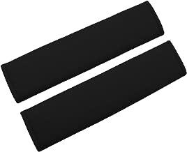MIRKOO Car Seat Belt Cover Pad, 2-Pack Soft Car Safety Seat Belt Strap Shoulder Pad for Adults and Children, Suitable for Car Seat Belt, Backpack, Shoulder Bag, Laptop Computer Bag (Black)