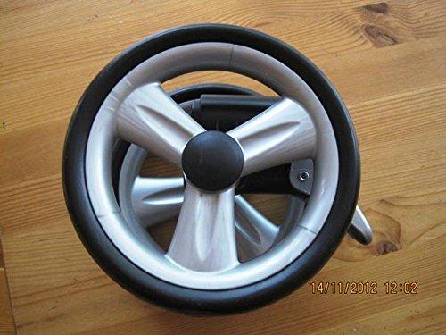 Peg Perego Doppel Vorder Rad schwarz für Pliko P3 komplett und Pliko Switch ab 2007 - 2010