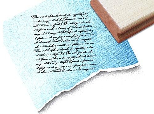 ZAcheR-fineT Stempel, tekst stempel VINTAGE ÉCRITURE I met oude handschrift, elegante letterstempel voor uw eigen design in shabby chic stijl