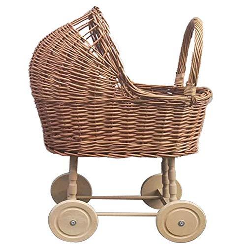 Andador bebé Primeros Pasos Andador Equilibrio Rattan Vintage Juguete del Empuje Accesorios de Fotos de decoración de Coche for niños 1-6 años correpasillos bebé +6 Meses