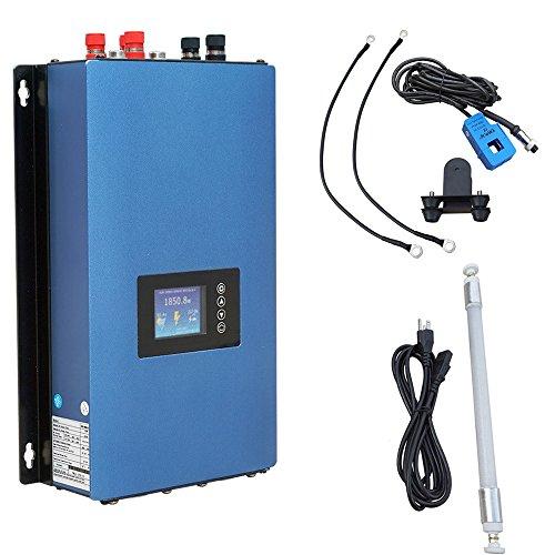 ECO-WORTHY 1000W Wind Power Grid Tie Wechselrichter Display MPPT mit Begrenzer für 3-Phasen-Windkraftanlage