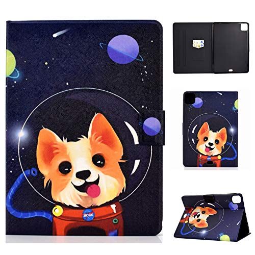 Bspring New iPad Air 4 Case, iPad Pro 11 inch 2020 2018 Case - Multi-Angle Viewing Folio Wallet Smart Stand Cover with Auto Wake/Sleep for Apple iPad Pro 11 2020 2018, iPad Air 4th 10.9',Space dog