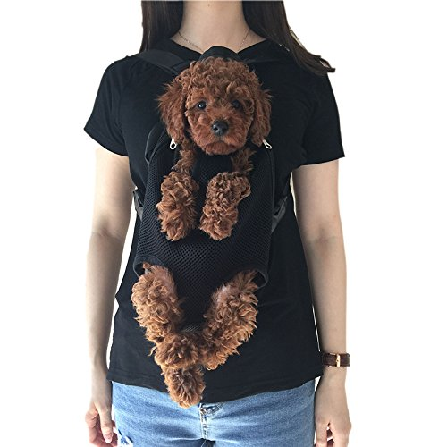 Wiiguda@Haustier vorne Brust Rucksäcke Hundetragetasche für Hund Katze Hand-befreit Rucksack fünf-Löcher Rucksack für Größe L(3,5-6,5 kg)