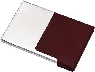 Cas de carte de visite pour des cartes de banque de cartes d'identification - vin rouge