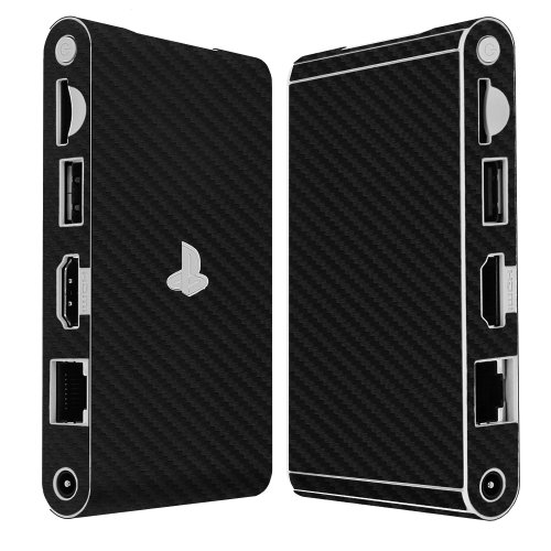 Skinomi Black Carbon Fiber Full Body Skin Compatible with Sony Playstation Vita TV (PS Vita TV)(Full Coverage) TechSkin Anti-Bubble Film