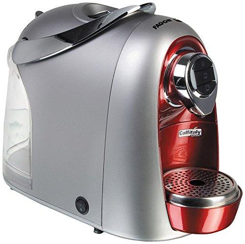 Fagor - Cafetera Capsulas Stracto Cca15R, 15 Bares, Deposito Agua 14,2L. Silver Rojo