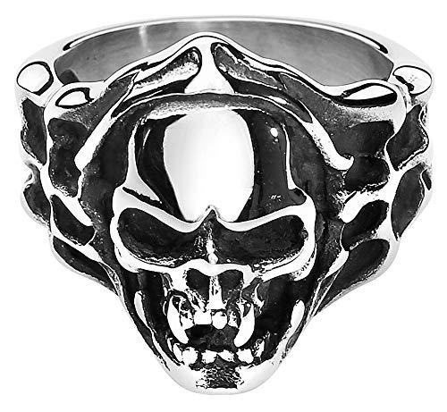 etNox hard and heavy Evil Skull Hombre Anillo, [Effekte/Besonderheiten] +