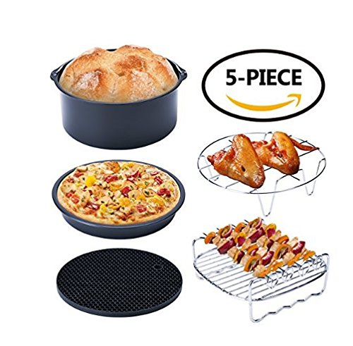 Air fryer Accessories set of 5,Suitable for all 3.7QT-5.3QT-5.8QT Gowise Phillips and Cozyna