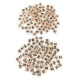 dailymall 200 Piezas de Rompecabezas de Madera Números Azulejos Artesanía de Madera para Niños Creatvie Game Toy