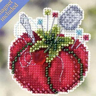 Tomato Pincushion Beaded Counted Cross Stitch Ornament Kit Mill Hill 2012 Spring Bouquet MH-182104