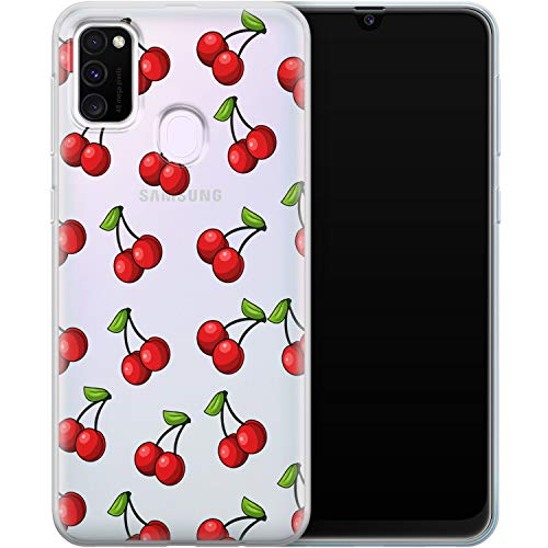 Vonna Phone Case Replacement for Samsung Galaxy A20 A91 A12 5G A11 A80 A70 A50s A30 A51 Cherry Soft Red Lovely Tropic Food Art Fruit Summer Smooth Print Design Flexible Silicone Cover Cute Lux a056