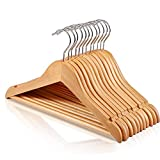 HOUSE DAY Wooden Childrens Hangers Kids Hangers,(20 Pack) Wood Baby Hangers Nursery Hangers, 360° Swivel Hook Non Slip Coat Hanger for for Coats, Suits, Pants and Jackets (Natural)