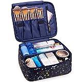 Neceser de Viaje para Maquillaje, Organizador Grande para Mujeres y niñas (Galaxia Azul)