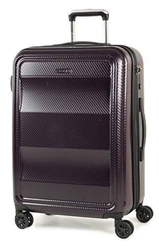 Rock Amethyst Hardshell 64cm Four Wheel Spinner Suitcase Purple